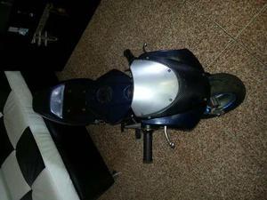 Mini Moto Para Niño 2 Tiempos 50cc Azul Encendido A Yoyo