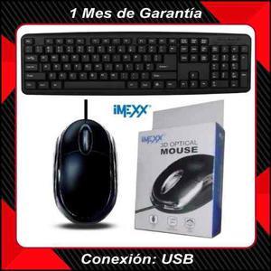 Combo De Teclado Y Mouse Usb Para Laptop Y Pc, Todos Windows