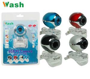 Web Cam Wash 3.0 Mp Redondo Con Microfono Tipo Presilla