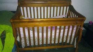 Cama Cuna En Madera Para Bebe