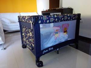 Corral Cuna Marca Cutie Baby + Colchón