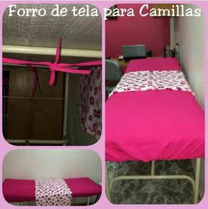 Forro Camilla,forro De Tela Para Camilla Estetica Y Belleza.