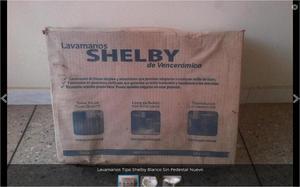 Lavamanos Tipo Shelby Blanco Sin Pedestal Nuevo