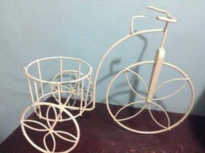 Porta Matero Para Jardin En Forma De Bicicleta