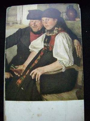 Antiguo Combo De 9 Postales Obras Pictoricas