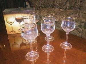 Juegos De 6 Copas De Vino De Cristal De Bohemia