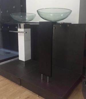 mobiliario de bao moderno mueble lavamanos cristal oferta