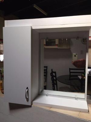 Mueble de ba o roble aereo todo incluido posot class for Espejo 50 cm ancho