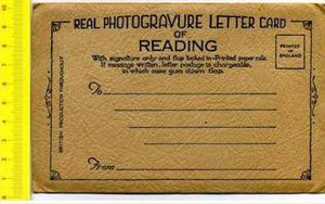 Postal Real Photogravure Letter Card Vintage,inglaterra,ver