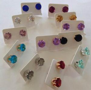 Zarcillos Cristales De Sahrowski Bellos Colores Oferta