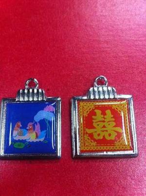 Dije Doble Felicidad Y Patos Mandarin Feng Shui