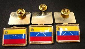 Pin Bandera De Venezuela Con Escudo Pin