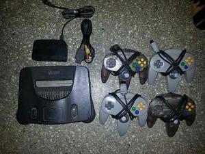 Vendo Nintendo 64 Con 8 Juegos Y 4 Controles