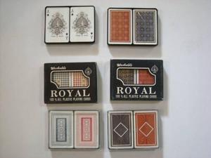 Cartas De Pocker 100% Plasticas Royal,mazo Gruezo,originales