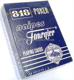 Cartas De Poker Juego De Mesa Naipes Barajas Faurnier Carton