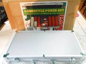 Maletin De Poker. 2 Mazos De Cartas, 5 Dados Y 300 Fichas