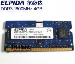 Memoria TAM Elpida DDR3 4GB laptop