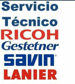 Servicio Tecnico Fotocopiadora Ricoh Savin Gestetner Y Lanie