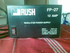 Vendo Fuente De Poder Marca Rush 12 Amp. Para Radios Moviles