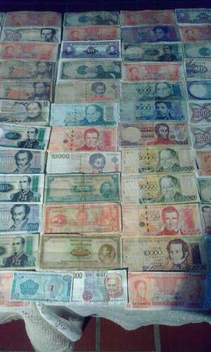 Colecion De 100 Billetes Antiguos Venezolanos