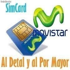 Sim Card Chip Movistar Para Moviles Fijos 02xx Internet Gps