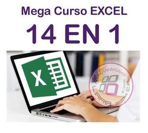 14 Libros De Excel (mega Curso Intensivo De Excel)