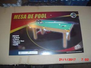 Mesa De Pool Grande Marca Jeidy Toys Semiprofesional