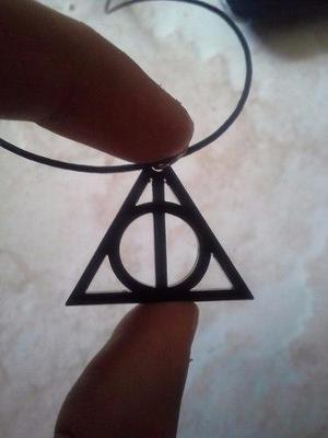 Collar Dije De Las Reliquias De La Muerte Harry Potter