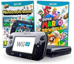 Nintendo Wii U 32gb Negro Deluxe + 2 Juegos Garantia Nuevo