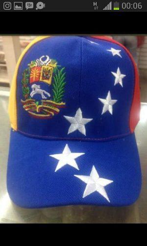 Gorra Tricolor De Venezuela 8 Estrellas