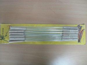 Pinchos De Metal Para Parrilla X 12 Pz (d222)