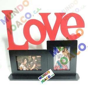 Portaretratos Love De 2 Fotos De 10x15cm (4 X6) Mundo Joaco