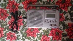 Radio Am/fm Reloj Y Despertador Coby
