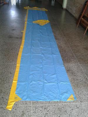 Piscina inflable con tobogan y cascada de agua posot class for Tobogan para piscina