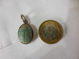 Antiguo Dije Escarabeo De Egipto En Forma De Escarabajo