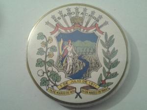 Chapa Con El Escudo Del Estado Táchira. Con Espejo