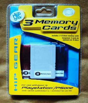 Set De 3 Memoria Para Playstation 1