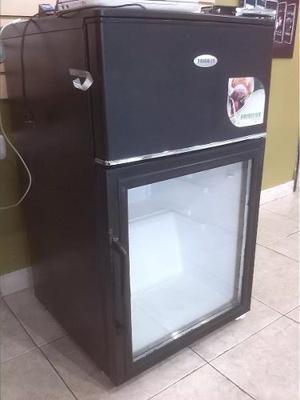 Nevera Ejecutiva Tipo Vitrina Frigilux De 2 Puertas Freezer