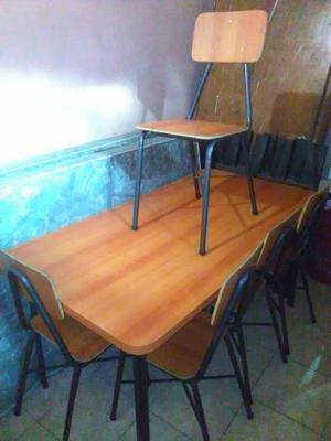 Comedor de seis puesto posot class for Comedor seis sillas