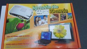 Convertidor De Video Vga - Rca Pc Tv Video Beam Dj. Nuevos