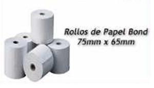 Rollos Papel Bond 75 X 65