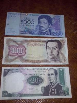 Tres Billetes De Colección
