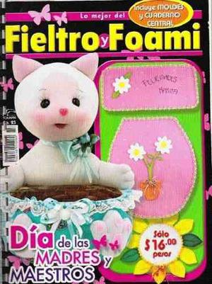 13 Revistas Para Manualidades Con Fieltro (lote 2)