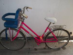 Bicicleta Antigua De Paseo Rin 24, Con Asiento Para Bebes