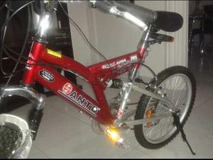 Bicicleta Montañera Rin 20 Marca Santo. Aluminio.