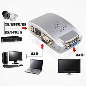 Convertidor Rca Video S-video A Vga Pc,tv, Video Beam