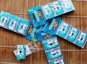Microcassette Maxell Mc60 Para Grabadora De Periodista
