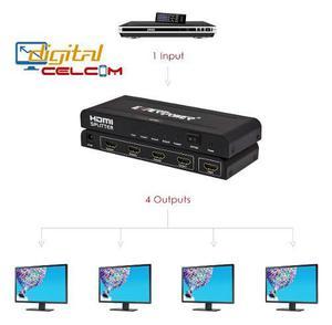 Splitter Amplificador De Video Hdmi 1x4 Full Hd/3d Nuevo