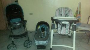 Coche Porta Bebe Y Mesa Para Comer De Bebé
