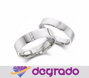 Aros Anillos De Boda Matrimonio En Plata Con Circones
